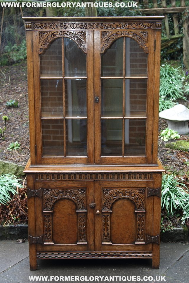 Image 38 of TITCHMARSH GOODWIN STYLE BOOKCASE DISPLAY CABINET CUPBOARD