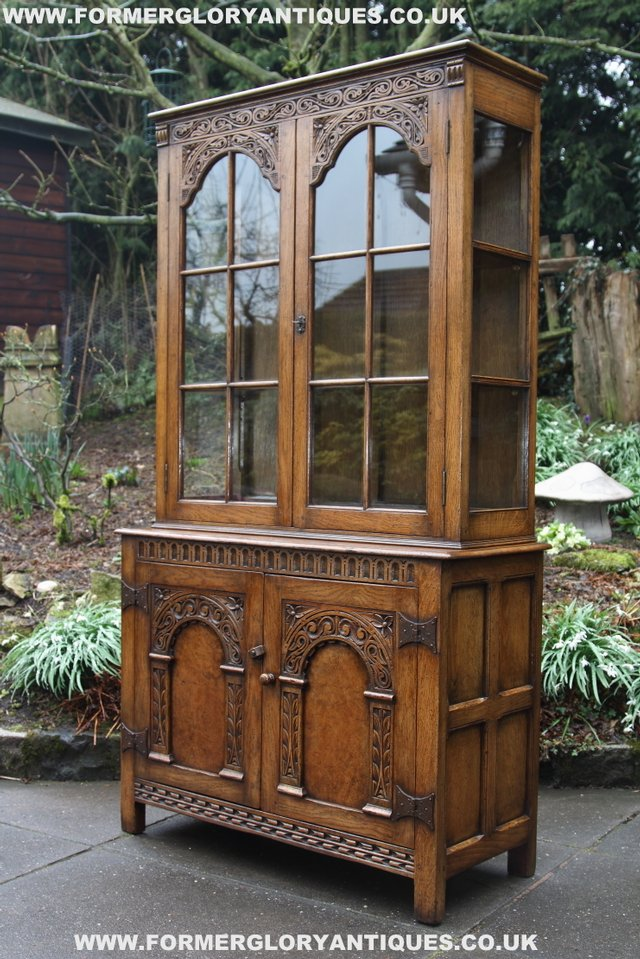 Image 39 of TITCHMARSH GOODWIN STYLE BOOKCASE DISPLAY CABINET CUPBOARD