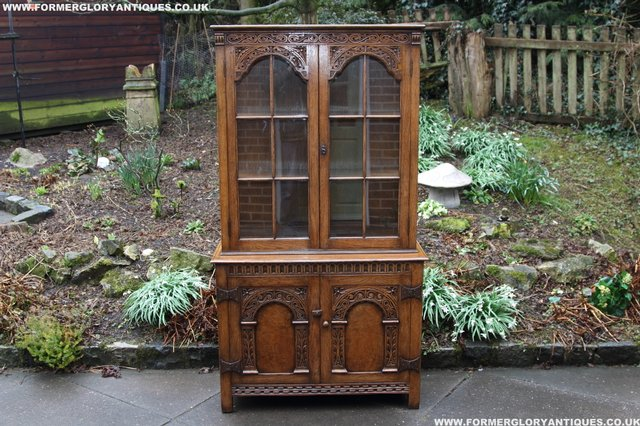 Image 40 of TITCHMARSH GOODWIN STYLE BOOKCASE DISPLAY CABINET CUPBOARD