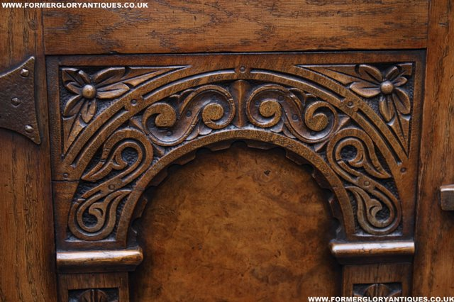 Image 42 of TITCHMARSH GOODWIN STYLE BOOKCASE DISPLAY CABINET CUPBOARD