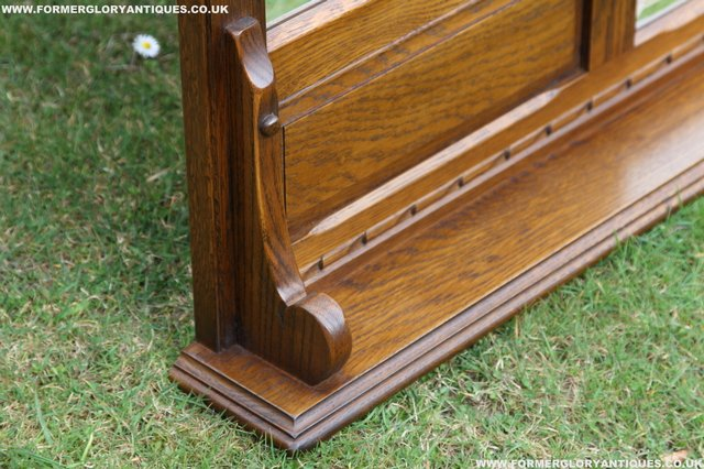 Image 11 of OLD CHARM OAK OVERMANTEL FIRE SURROUND SIDEBOARD HALL MIRROR