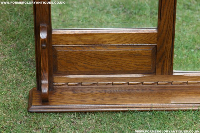 Image 12 of OLD CHARM OAK OVERMANTEL FIRE SURROUND SIDEBOARD HALL MIRROR