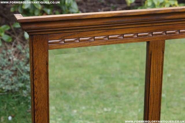 Image 14 of OLD CHARM OAK OVERMANTEL FIRE SURROUND SIDEBOARD HALL MIRROR