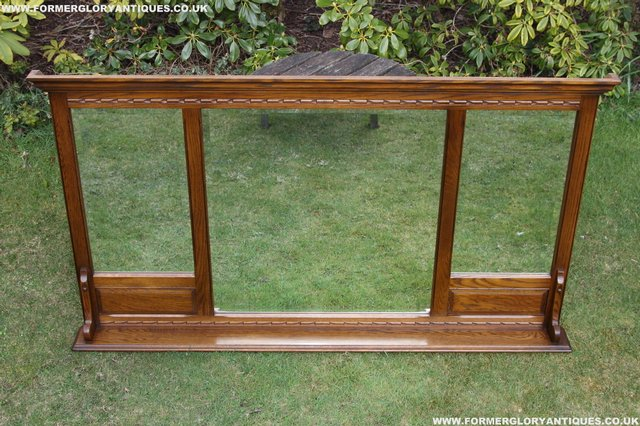 Image 18 of OLD CHARM OAK OVERMANTEL FIRE SURROUND SIDEBOARD HALL MIRROR