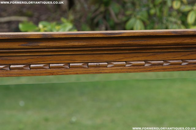 Image 23 of OLD CHARM OAK OVERMANTEL FIRE SURROUND SIDEBOARD HALL MIRROR