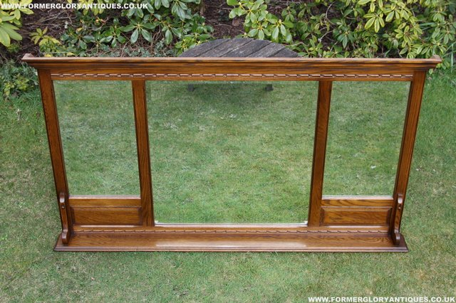 Image 28 of OLD CHARM OAK OVERMANTEL FIRE SURROUND SIDEBOARD HALL MIRROR
