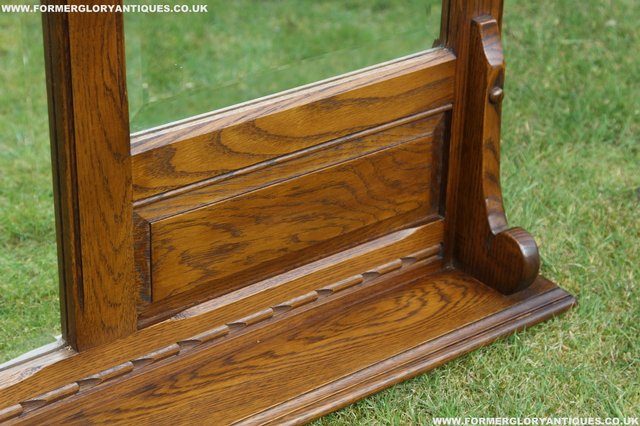 Image 30 of OLD CHARM OAK OVERMANTEL FIRE SURROUND SIDEBOARD HALL MIRROR