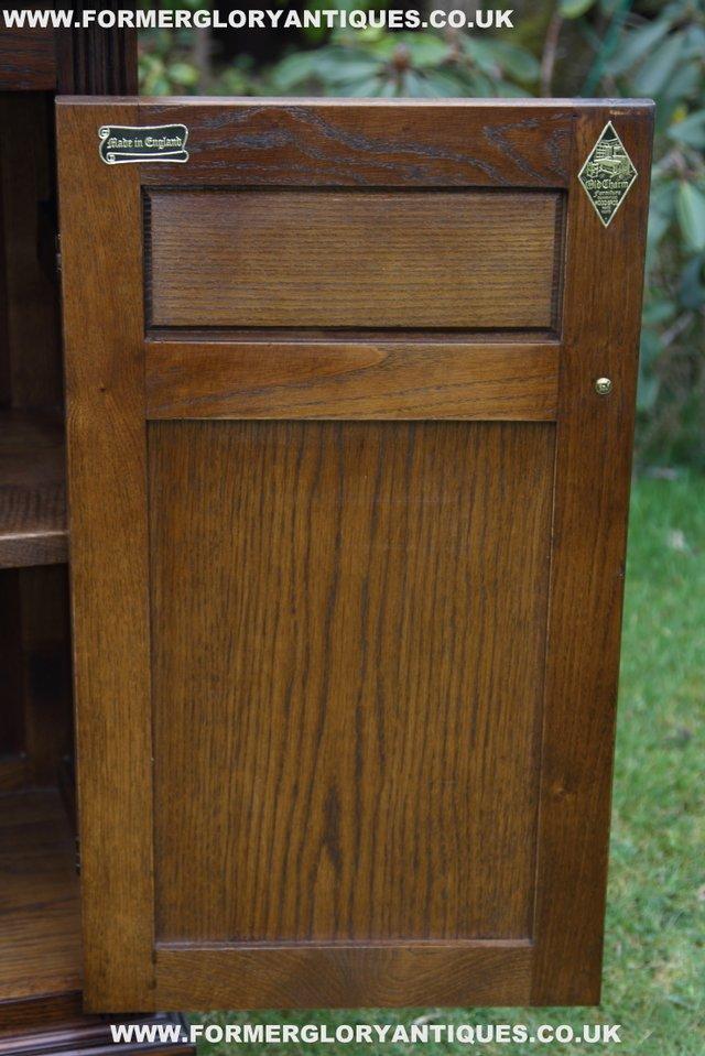 Image 16 of OLD CHARM LIGHT OAK DRESSER BASE SIDEBOARD BOOKCASE CABINET