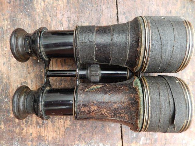 Image 2 of Pre WW1 Brass Bodied Binoculars