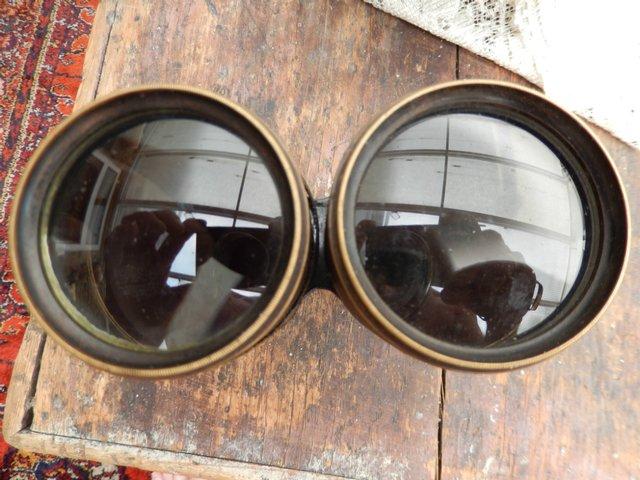 Image 3 of Pre WW1 Brass Bodied Binoculars