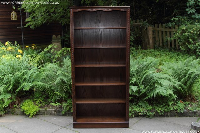Preview of the first image of JAYCEE OLD CHARM OAK BOOKCASE WALL OFFICE CD DVD BOOKSHELVES.