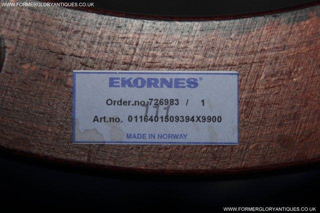Image 13 of EKORNES STRESSLESS LEATHER RECLINER SWIVEL ARMCHAIR STOOL