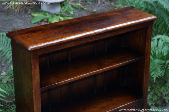 Image 8 of TITCHMARSH AND GOODWIN STYLE OAK BOOKCASE CABINET CUPBOARD
