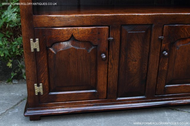Image 12 of TITCHMARSH AND GOODWIN STYLE OAK BOOKCASE CABINET CUPBOARD