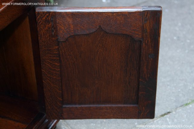 Image 23 of TITCHMARSH AND GOODWIN STYLE OAK BOOKCASE CABINET CUPBOARD