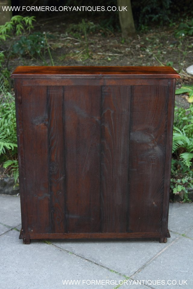 Image 26 of TITCHMARSH AND GOODWIN STYLE OAK BOOKCASE CABINET CUPBOARD