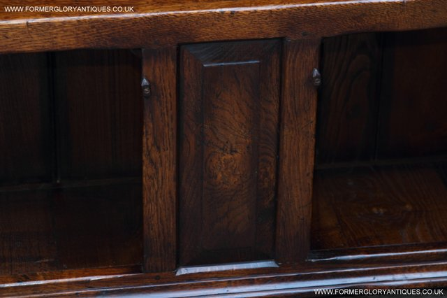 Image 32 of TITCHMARSH AND GOODWIN STYLE OAK BOOKCASE CABINET CUPBOARD