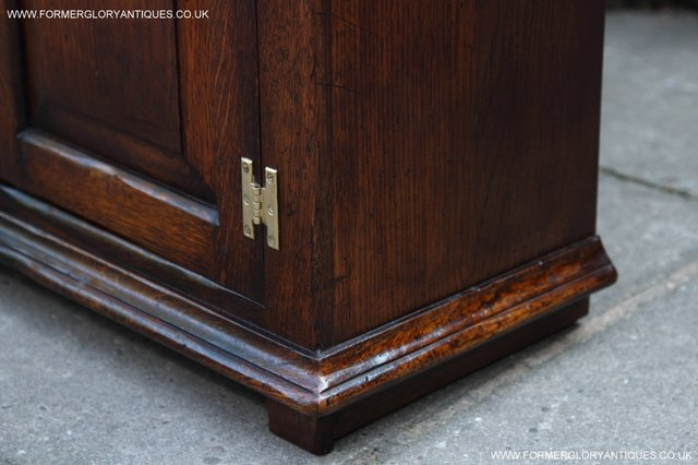 Image 35 of TITCHMARSH AND GOODWIN STYLE OAK BOOKCASE CABINET CUPBOARD