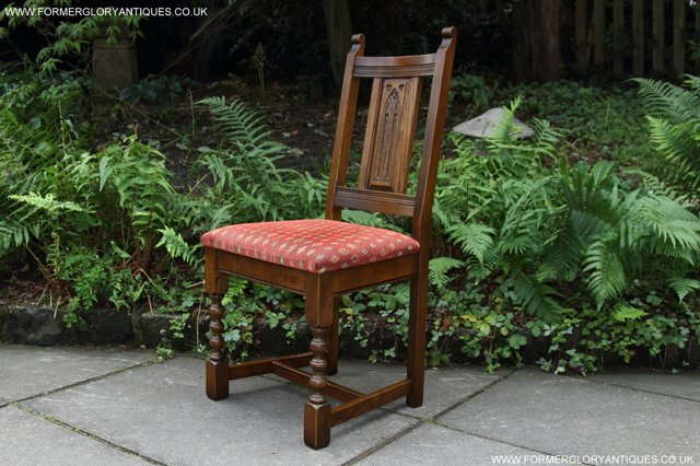 Image 9 of OLD CHARM LIGHT OAK KITCHEN DINING TABLE SIX DINING CHAIRS.