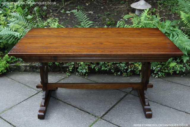 Image 11 of OLD CHARM LIGHT OAK KITCHEN DINING TABLE SIX DINING CHAIRS.