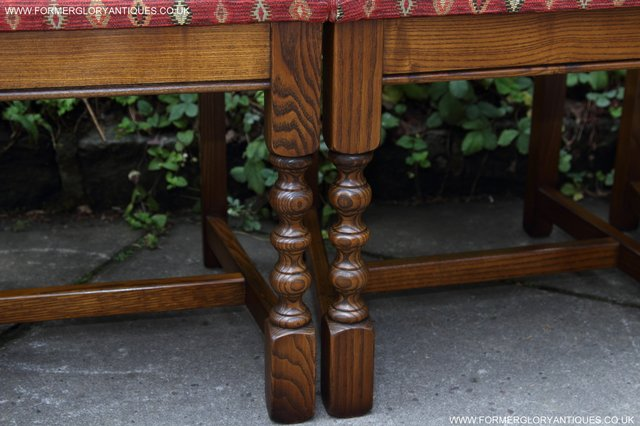 Image 15 of OLD CHARM LIGHT OAK KITCHEN DINING TABLE SIX DINING CHAIRS.