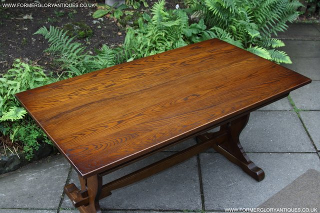 Image 23 of OLD CHARM LIGHT OAK KITCHEN DINING TABLE SIX DINING CHAIRS.