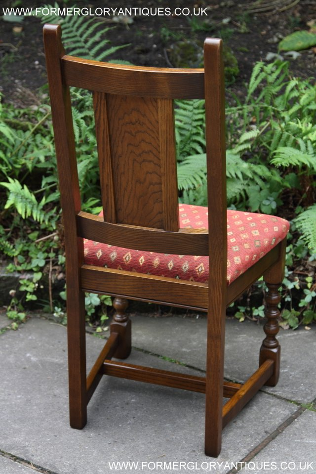 Image 29 of OLD CHARM LIGHT OAK KITCHEN DINING TABLE SIX DINING CHAIRS.