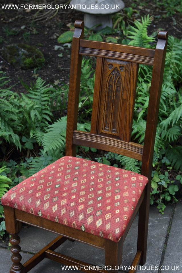 Image 30 of OLD CHARM LIGHT OAK KITCHEN DINING TABLE SIX DINING CHAIRS.