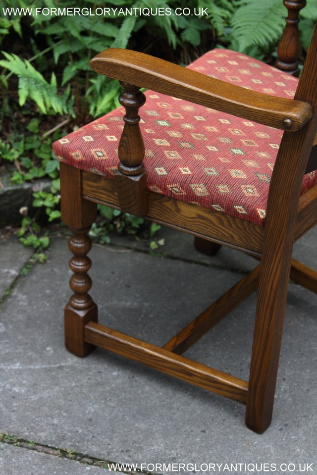 Image 35 of OLD CHARM LIGHT OAK KITCHEN DINING TABLE SIX DINING CHAIRS.