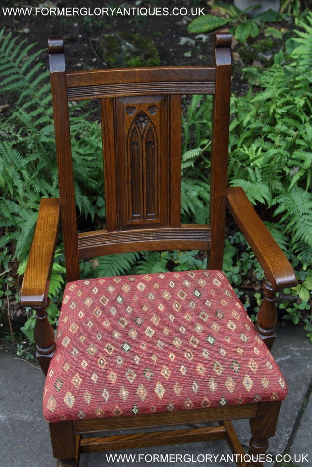 Image 42 of OLD CHARM LIGHT OAK KITCHEN DINING TABLE SIX DINING CHAIRS.