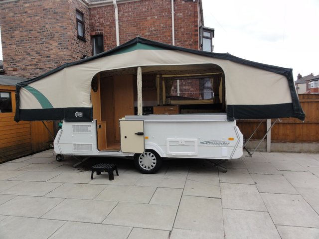 Preview of the first image of WANTED CONWAY CRUSADER FOLDING CAMPER.