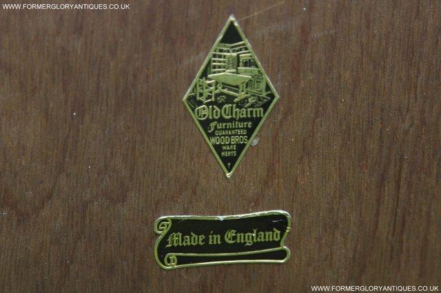 Image 8 of OLD CHARM TUDOR BROWN OAK OVERMANTEL SIDEBOARD HALL MIRROR