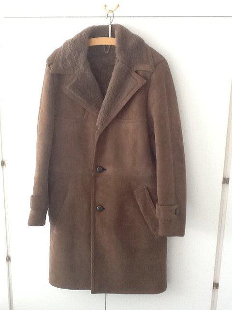 Mens sheepskin coat sale