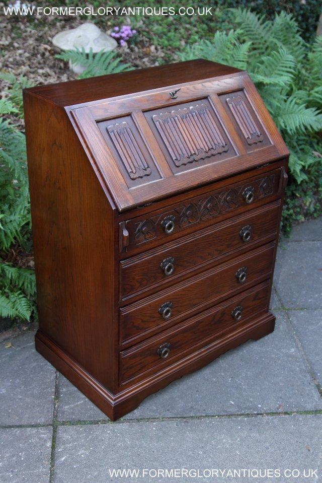 Image 5 of OLD CHARM OAK WRITING TABLE BUREAU COMPUTER OFFICE DESK
