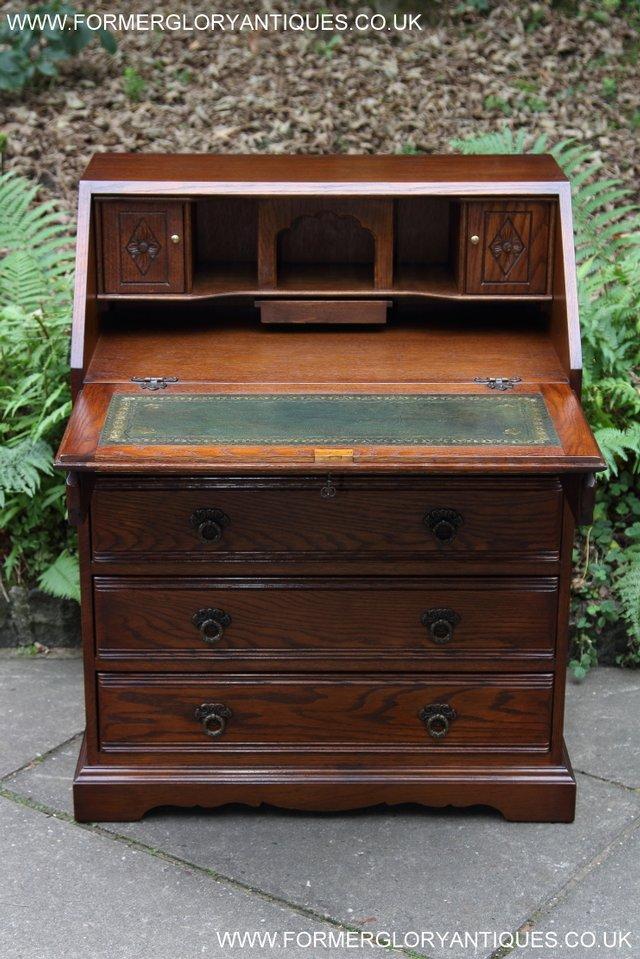 Image 26 of OLD CHARM OAK WRITING TABLE BUREAU COMPUTER OFFICE DESK