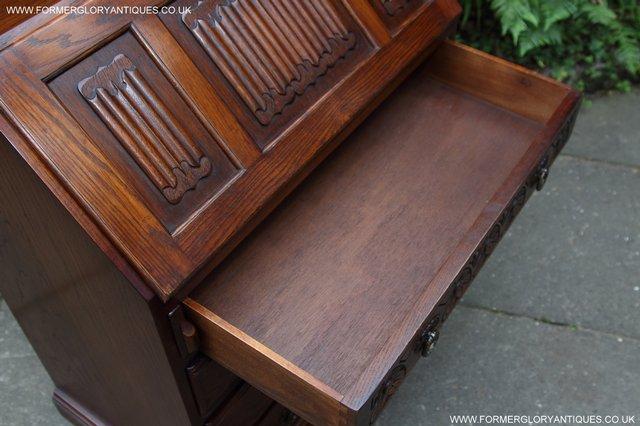 Image 30 of OLD CHARM OAK WRITING TABLE BUREAU COMPUTER OFFICE DESK