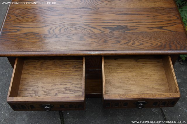 Image 11 of OLD CHARM LIGHT OAK TWO DRAWER LAMP OCCASIONAL COFFEE TABLE