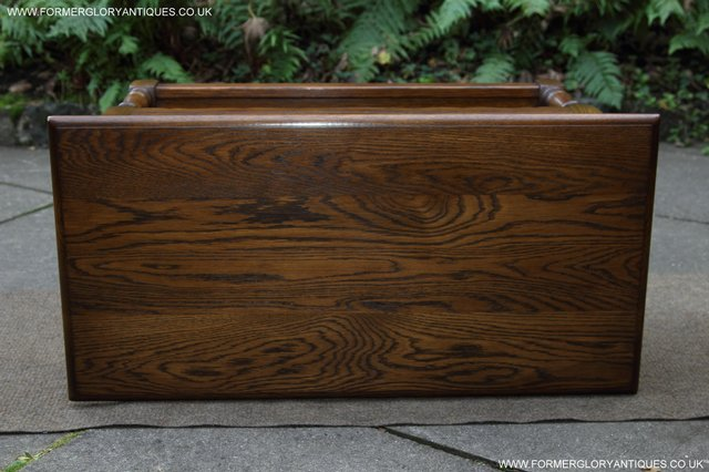 Image 13 of OLD CHARM LIGHT OAK TWO DRAWER LAMP OCCASIONAL COFFEE TABLE