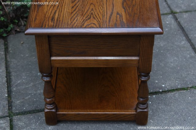 Image 17 of OLD CHARM LIGHT OAK TWO DRAWER LAMP OCCASIONAL COFFEE TABLE
