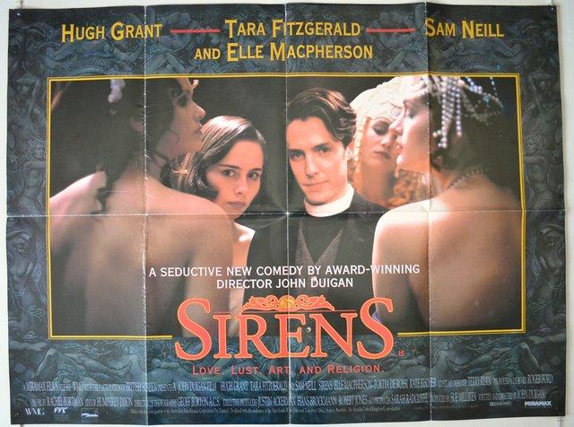 SIRENS (1994) Original Quad Movie Poster for sale  Bolton