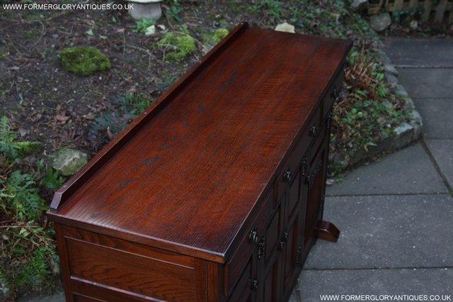 Image 2 of OLD CHARM TUDOR OAK SIDEBOARD DRESSER BASE CABINET TABLE