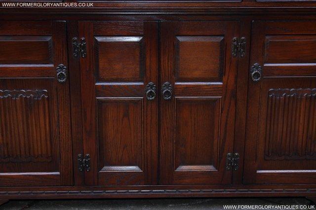 Image 5 of OLD CHARM TUDOR OAK SIDEBOARD DRESSER BASE CABINET TABLE