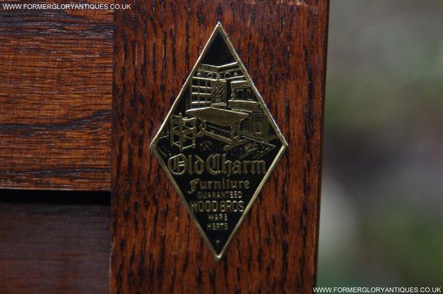Image 6 of OLD CHARM TUDOR OAK SIDEBOARD DRESSER BASE CABINET TABLE