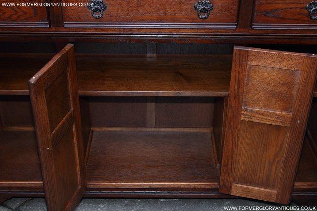 Image 11 of OLD CHARM TUDOR OAK SIDEBOARD DRESSER BASE CABINET TABLE
