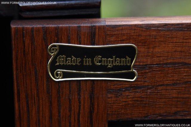 Image 13 of OLD CHARM TUDOR OAK SIDEBOARD DRESSER BASE CABINET TABLE