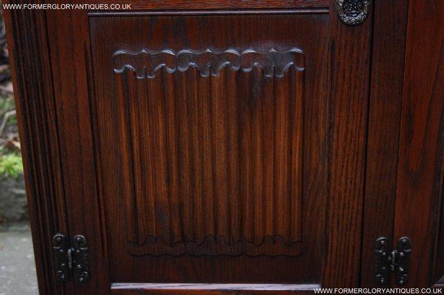 Image 14 of OLD CHARM TUDOR OAK SIDEBOARD DRESSER BASE CABINET TABLE