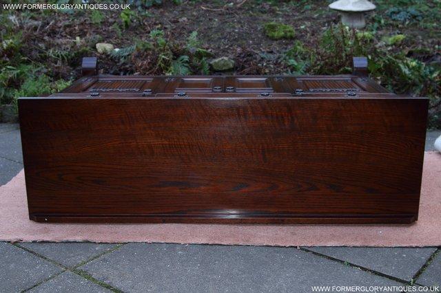 Image 15 of OLD CHARM TUDOR OAK SIDEBOARD DRESSER BASE CABINET TABLE
