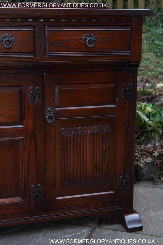 Image 17 of OLD CHARM TUDOR OAK SIDEBOARD DRESSER BASE CABINET TABLE