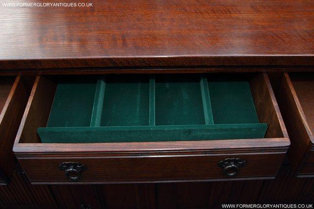Image 19 of OLD CHARM TUDOR OAK SIDEBOARD DRESSER BASE CABINET TABLE