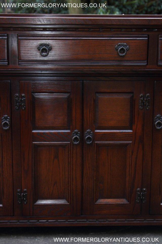 Image 21 of OLD CHARM TUDOR OAK SIDEBOARD DRESSER BASE CABINET TABLE